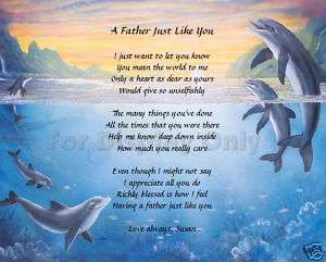 Gift For Dad Father Personalized Poem Birthday Fathers Day Gift Idea