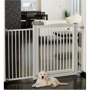 Pet Products 94161 Extra Wide Tension Mount Pet Gate   White  Pet