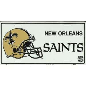 New Orleans Saints NFL Metal License Plate Sports