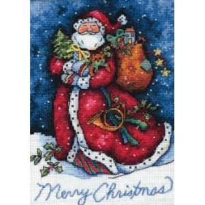 Merry Christmas Santa kit (cross stitch) Arts, Crafts