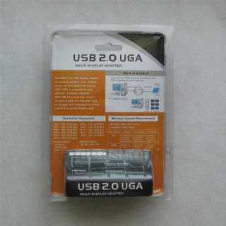 USB to VGA Adapter USB 2.0 Extra Monitor Multi Display