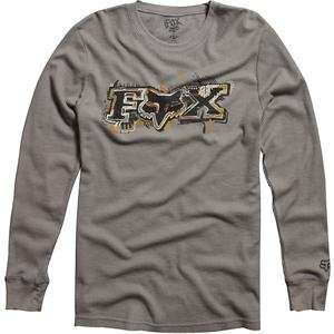 Fox Racing Casino Thermal Long Sleeve T Shirt   Large/Grey Automotive