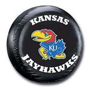 Kansas Jayhawks Black Spare Tire Cover   College Tire Covers