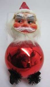 Christmas VINTAGE 1950s SANTA CLAUS Ornament Doll FACE