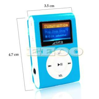 USB Flash Disk 4GB Mini Clip Gift  Music Player with LCD Screen
