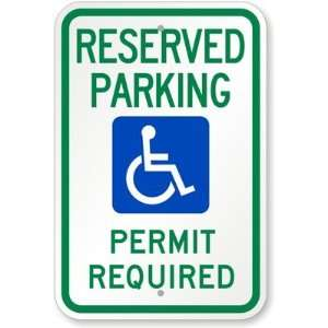 Reserved Parking Permit Required (with Graphic) Diamond Grade Sign