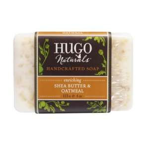 Hugo Naturals Bar Soap, Shea Butter and Oatmeal, 4 Ounce