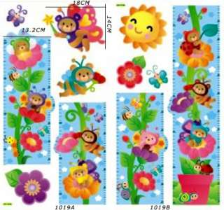 ANIMALS Balloon/Tree Home Room Wall kid Height Stature Decor Stickers