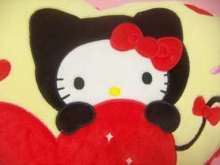 Sanrio Hello Kitty Big Cute Heart Plush Cushion / Japan Toy Doll 2010
