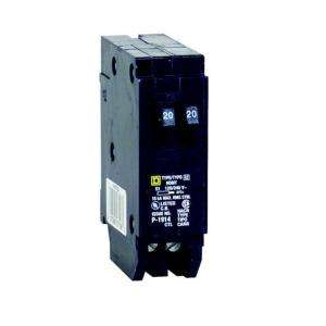 Square D by Schneider Electric Homeline 2 20 Amp Single Pole Tandem