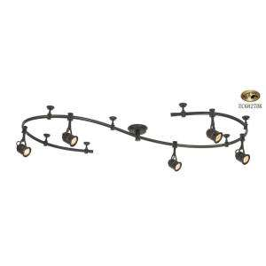 Hampton Bay 5 Light 10 ft. Black Flexible Track Lighting Starter Kit