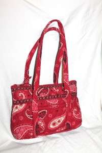 VERA BRADLEY Retired Quilted Mesa Red Retired Betsy Tote HandBag Purse