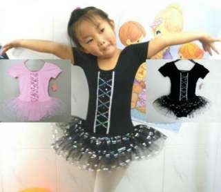 Freeshipping 2Colour Girls Dance Skate Ballet Leotard Tutu Skirt Dress