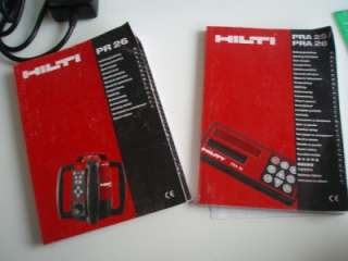 HILTI PR26 CONSTRUCTION ROTATING LASER LEVEL SELF LEVELING GREEN BEAM