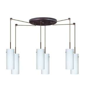 Stilo 10 Six Light Cord Hung Mini Pendant with Round Canopy Finish
