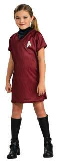 Standard Girls Star Trek Red Dress Costume   Star Trek Costumes