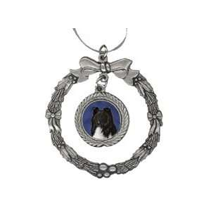 Sheltie Bi Black Pewter Christmas Ornament Everything