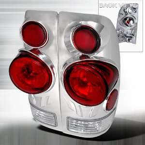 97 03 FORD F150 F250 F350 3D STYLE SIDE CHROME TAIL LIGHTS
