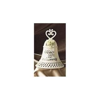 Happy 25th Wedding Anniversary Gift Porcelain Bell #40092