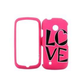 LG COSMOS TOUCH VN270 PINK LOVE HARD PLASTIC COVER CASE