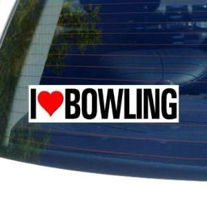 I Love Heart BOWLING   Window Bumper Sticker Automotive