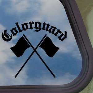 Colorguard Black Decal Truck Bumper Window Vinyl Sticker