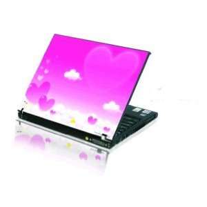 15.4 Laptop Notebook Skins Cover H1201 Pink Hearts (Brand