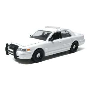 Greenlight 1/64 Blank White Ford Crown Vic Police Car