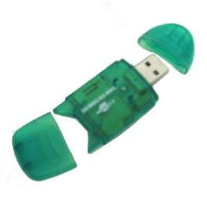 Multi Format (4 in 1) Green Color Mini USB 2.0 Memory Card
