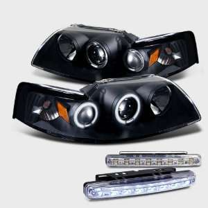 Eautolight 99 04 Mustang Ccfl Halo Projector Head Light+led Bumper Fog