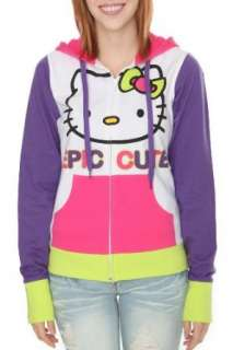 Hello Kitty Epic Cute Womens Hoodie Plus Size Clothing