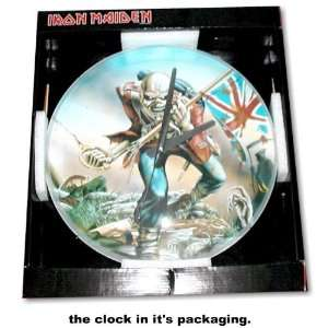 Iron Maiden EDDIE logo Wall Clock With Glass Cover