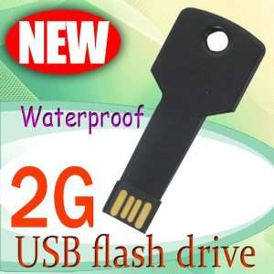 2G Waterproof Metal KEY USB Memory Stick Flash Pen