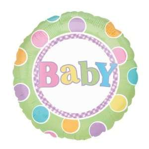New BABY Large 18 ROUND Mylar Foil Balloon   Baby BOY or GIRL Shower
