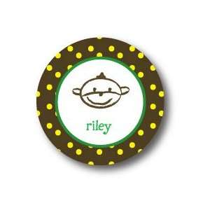 Polka Dot Pear Design   Round Stickers (366r) Office