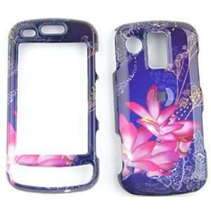 Samsung Rogue u960 Pink Lilies on Blue Background Hard