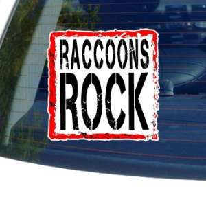 Raccoons Rock   Window Bumper Laptop Sticker Automotive