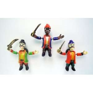 Sword Pirate   Refrigerator Bobble Magnet (Set of 3)