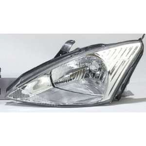 02 FORD FOCUS HEADLIGHT ASSEMBLY EXC SVT, DRIVER SIDE   DOT Certified