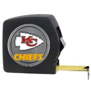 BSS   Kansas City Chiefs NFL 25 Black Tape Measure