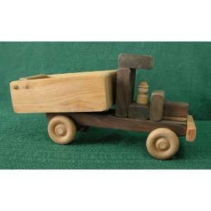 Wooden Toy Dump Truck Made in America by D and Me Toys & Games