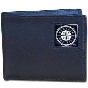 MLB Seattle Mariners Leather Bi fold Wallet  Sports