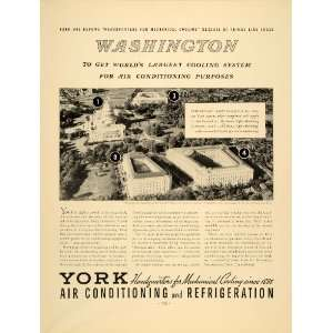 1937 Ad York Air Conditioning Refrigeration Cooling