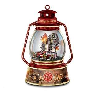 Courage Under Fire Collectible Firefighter Tribute Lantern by Ardleigh