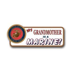 US Marine Pride My Grandmother is a Marine Bumper Sticker Decal 9