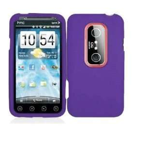 Mobile Palace   Purple silicone skin case cover pouch holster for HTC