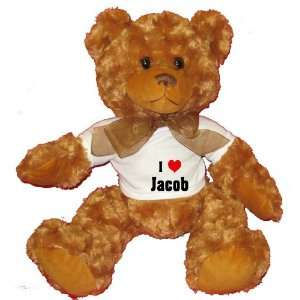 Love/Heart Jacob Plush Teddy Bear with WHITE T Shirt  Toys & Games