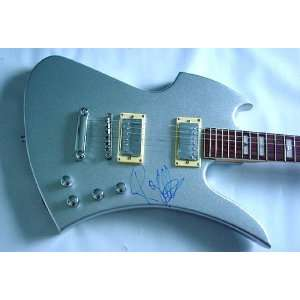 Pink Floyd Roger Waters Signed Silver Guitar & Video Proof