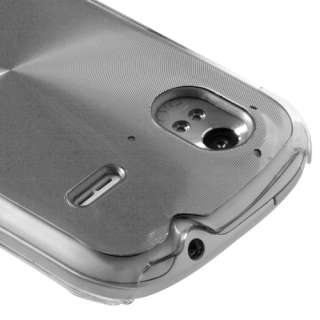 HTC AMAZE 4G T MOBILE BRUSHED ALUMINUM PLATE ACRYLIC SNAP FIT CASE