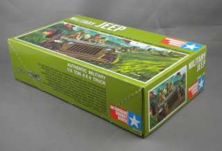 Vintage 60s Monogram US Army Military Jeep Model Kit with Figures